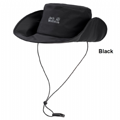 Jack Wolfskin Unisex Texapore 2 In 1 Hat - Waterproof Brim Hat - Black